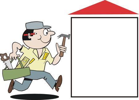 tradesman: Carpenter cartoon Illustration