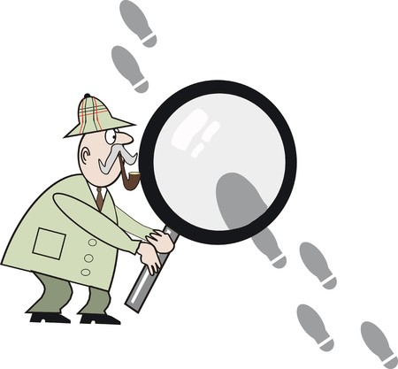 uncovering: Detective cartoon