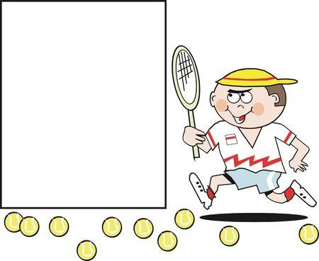 introducing: Caricatura de jugador de tenis  Vectores
