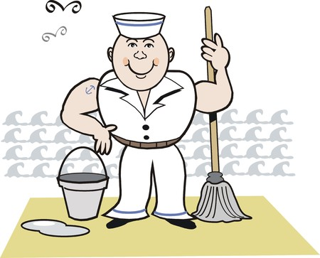 merchant: Smiling sailor cartoon Illustration