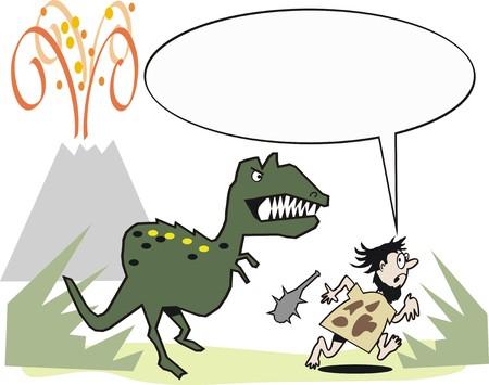 dinosaurio caricatura: Caricatura de dinosaurio
