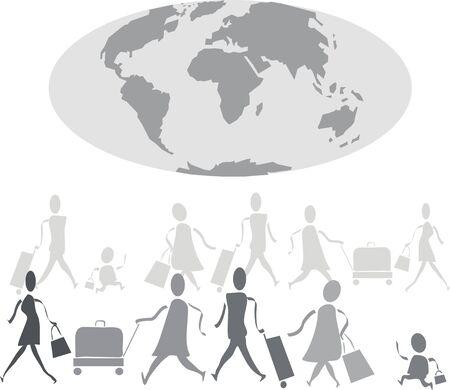 World travel cartoon Vector