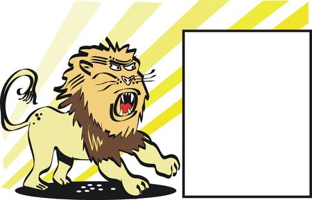 ferocious: Ferocious lion cartoon