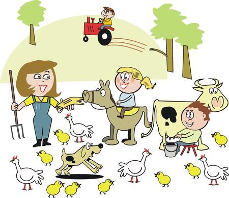 Farm cartoon Stock Vector - 7101197