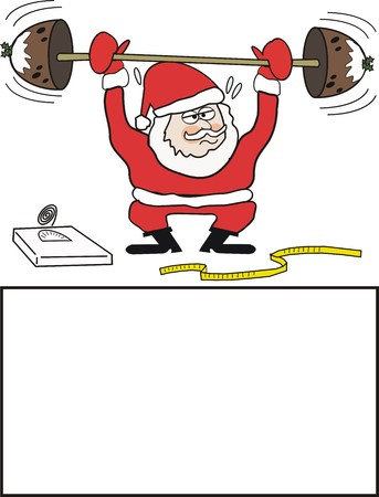 Santa Claus exercise cartoon Vector