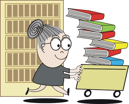 librarian: Funny librarian cartoon