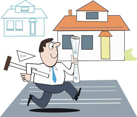 arquitecto caricatura: Arquitecto dise�ador de dibujos animados