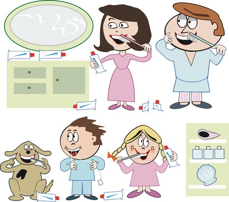 Dental health cartoon Vector