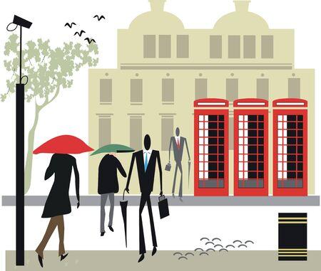 urban life: Ilustraci�n de la vida urbana de Londres