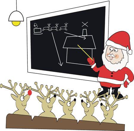 Santa Claus instructor cartoon Vector