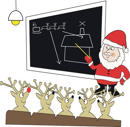 Santa Claus instructor cartoon Vector