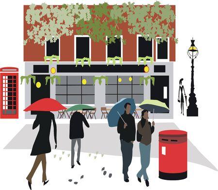 London pub illustration Stock Vector - 7778305