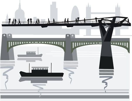 London Thames illustration