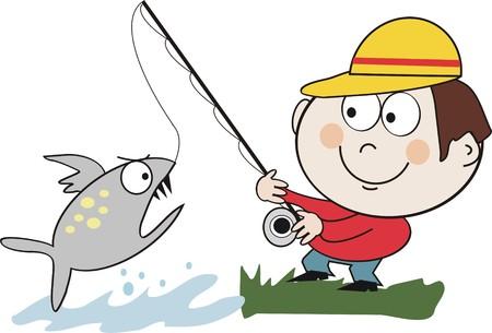 anglers: Fishing cartoon Illustration