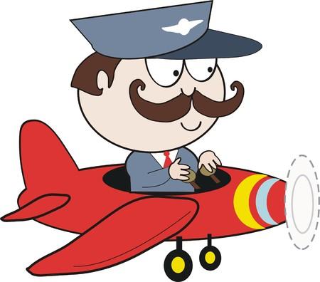 pilot  cartoon Stock Vector - 7883212