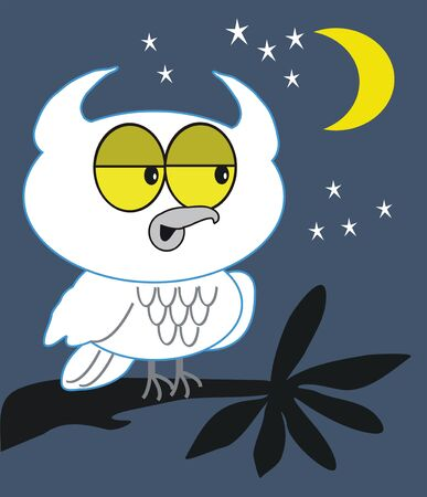 Night owl cartoon Vector