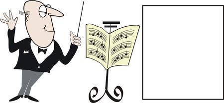 chef d orchestre: Caricature de musique