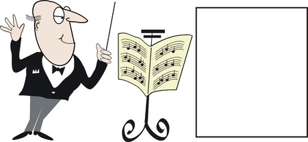 conductor: Music cartoon