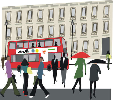London city illustration Stock Vector - 8113453