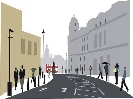 Whitehall London illustration