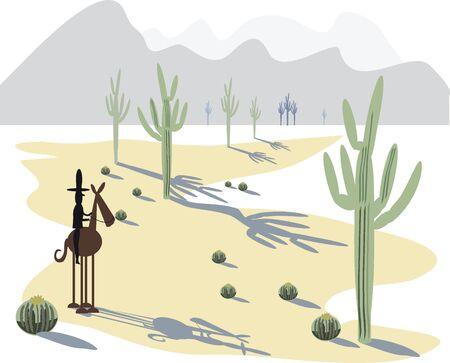 Desert illustration Stock Vector - 8500348