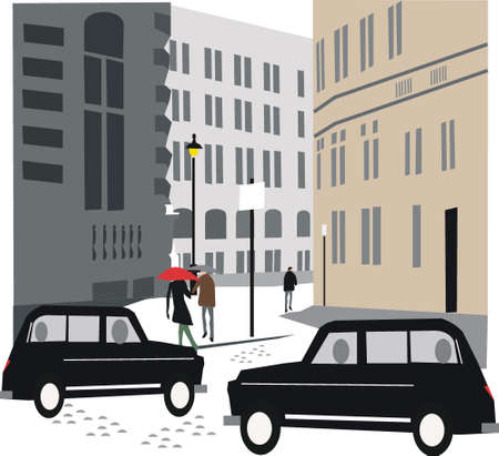 informal: London taxi illustration Illustration
