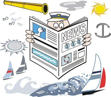 Yachting news cartoon Stock Vector - 8772492