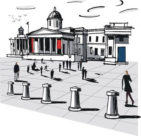 London Art Gallery illustration Stock Vector - 9048696