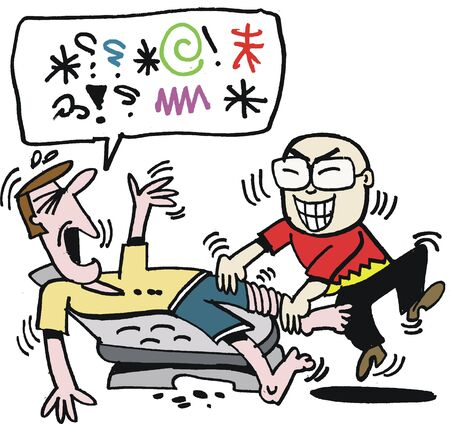 Vector cartoon of man getting Asian foot massage Stock Vector - 9929888