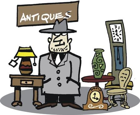cartoon of second-hand dealer Imagens - 10045540