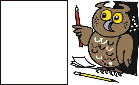 buho sabio: Cartoon b�ho sabio