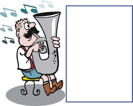 Man playing tuba cartoon Stock Vector - 10045562