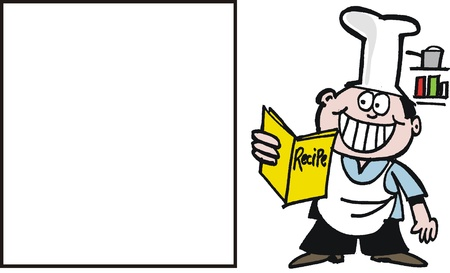 cartoon of smiling chef Vector