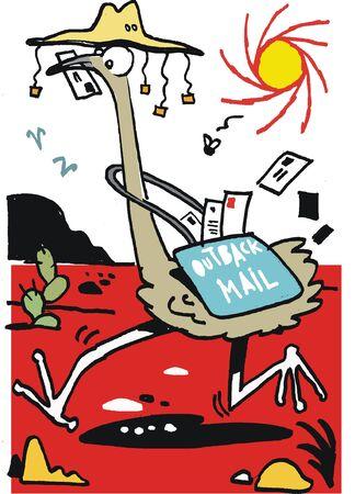 emu: Australia interior emu