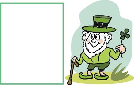 Vector cartoon of smiling leprechaun Stock Vector - 10388561