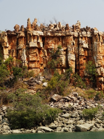 Rock formations, Kimberley coast, Australia photo