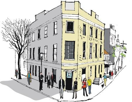 Vector illustratie van oude pub in Sydney Australië