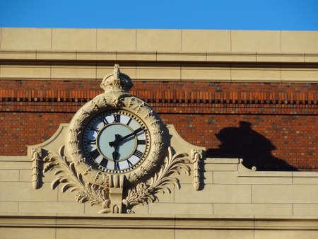 numeros romanos: Antiguo reloj, Wellington estación de tren de Nueva Zelanda