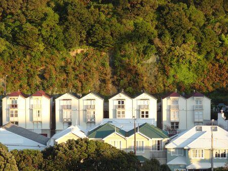 wellington: Old houses, Wellington, New Zealand Stock Photo