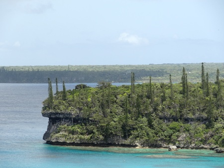 south pacific: Sheer cliffs, Lifou Island, South Pacific