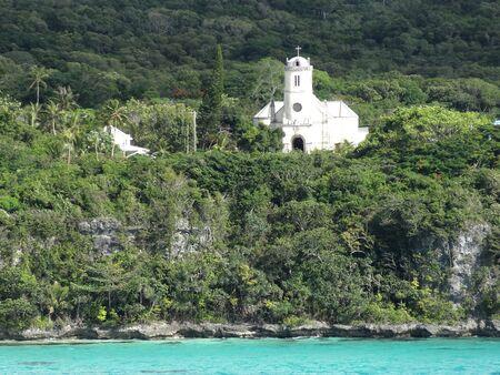new caledonia: Old church, Lifou, Loyalty Islands, New Caledonia