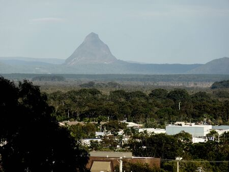 glasshouse: Glasshouse mountains, Sunshine Coast, Queensland Australia Stock Photo
