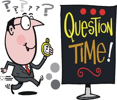 cartoon bieżącą działalność człowieka wih powiadomienia kwestia czasu Ilustracje wektorowe