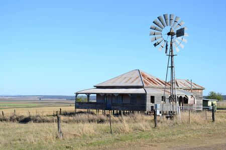 homestead: Old outback farmhouse in South West Queensland Australia