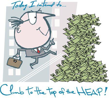Motivated business man cartoon