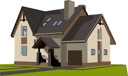 driveway: house