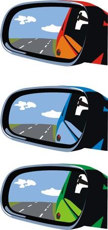 reflection mirror: car mirrors