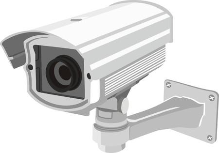 bewakingscamera Vector Illustratie