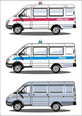Transport ambulance, police, delivery