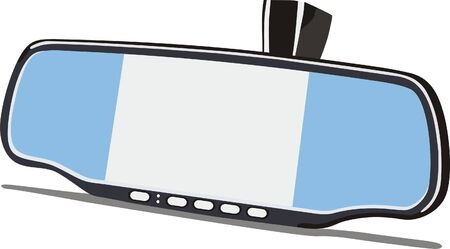 reflection mirror: car mirror Illustration